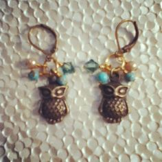 dwallacedesigns • owl earings.