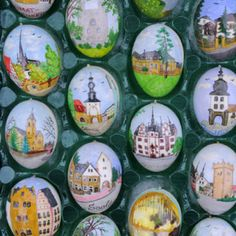 Volker Kraft lives in Saalfeld near the border with the Czech Republic. The Easter Egg Tree in Germany is decorated with almost 10,000 hand painted eggs.