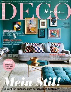 Our fabulous January and February issue 2016. #homestories #art #living #decoration #homestyling #favoriteblogs #fabrics / See more on www.decohome.de