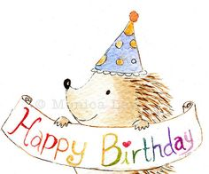Birthday Card - Cute Hedgehog