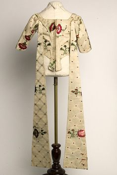 Girl's dress bodice with leading strings, 1750-1759