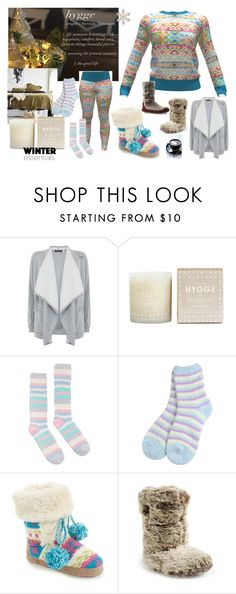 """""""Hygge Cozy"""" by kelly-floramoon-legg ❤ liked on Polyvore featuring Mint Velvet, Joules, Muk Luks, Bedroom Athletics and Acorn"""