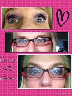 Younique 3D lashes even work with glasses!!