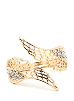 Embellished wings bracelet $10.40-I'm getting this, I only wish it was real and in a ring too.