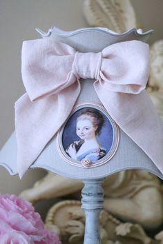 Abat-jour shabby chic, romantique, décoration. Lampshade french boudoir
