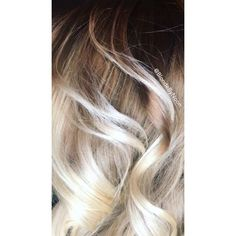 Blonde balayage bright blonde blonde hair rooted dark root color melt hair painting Balay