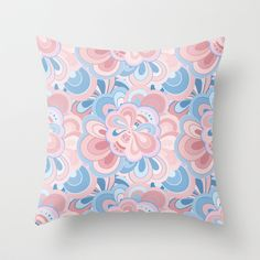 Pink Dreams Throw Pillow by Trapezoid - $20.00