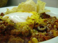Easy taco soup  Paula Deen
