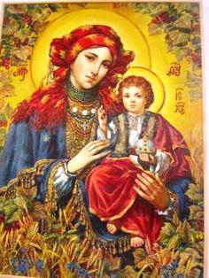 Богородиця у вишиванці. Дивовижні ікони українського живописця Олександра Охапкіна (фото)