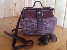 Купить Саквояж Грецкий орех - коричневый, саквояж, саквояж кожаный, валяная сумка, валяный саквояж