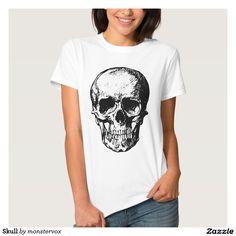 Skull T Shirt #Skull #Skeleton #Holiday #Halloween #Tshirt #Tee #Shirt #SweatShirt