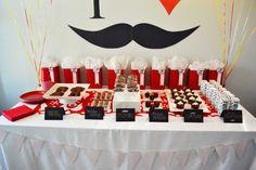 I Heart Moustaches Birthday Party