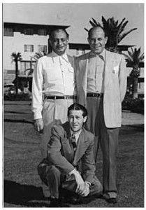 """Israel """"Icepick Willie"""" Alderman, Joe Rosenberg, Gus Greenbaum Vegas trio"""