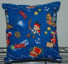 """Jake and the Never land Pirates Pillow Disney Jake Pillow Made in USA Pillow is approximately 10"""" X 11"""" . THE PILLOW WOULD MAKE GREAT GIFT FOR BIRTHDAYS,HOLIDAYS, NAP TIME, CAR RIDES, HOSPITAL STAYS, DAY CARES & MORE. ~BRAND NEW~ ~HANDMADE~ Jake and the Neverland Pirates This Cuddly Cotton/Flannel Pillow is approximately 10"""" X 11"""" Also perfect for nap time, car seat, traveling, stroller rides, kids & teens rooms It is stuffed with 100% Hypo-Allergenic Premium Polyester Fiber-Filled The..."""