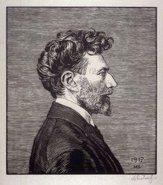 Max Svabinsky, woodcut