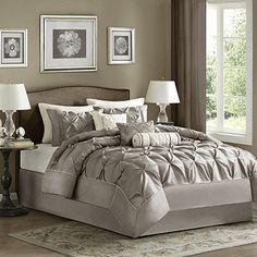 Madison Park 7pc Piedmont Comforter Set also in purple \ eggplant $134 for KING