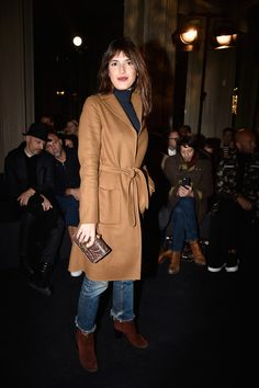 Jeanne Damas - Valentino Menswear Fall 2016 Front Row - January 20, 2016 #PFW