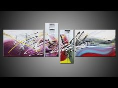 Abstract acrylic painting Demo HD Video - Tableau abstrait Damage by Joh...