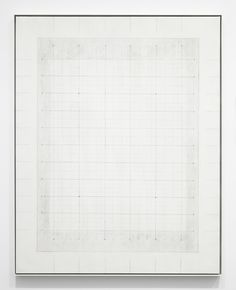 Elaine Reichek Untitled, 1972 Gesso, thread, graphite, and colored pencil on canvas 152.4 x 121.9 cm