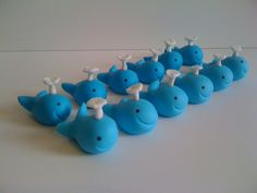 maybe in raspberry hot pink?? Little Whales Cupcake Toppers by CrumbyArt on Etsy, $24.00
