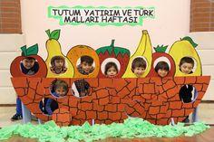 Yerli malı Fruits And Vegetables Pictures, Vegetable Pictures, School Board Decoration, School Decorations, Montessori Activities, Preschool Activities, Summer Crafts, Crafts For Kids, Vegetable Crafts