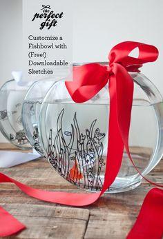 The Perfect Gift: Custom Fish Bowl + Free Downloads + Win an iPad Mini!!