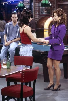 High-school friends reunited, Monica and Rachel ~ Friends ~ Episode Scenes ~ Season 3, Episode 6 ~ The One with the Flashback