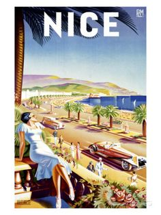 Nice, Riviera Beach Resort Giclee Print by D'hey at AllPosters.com