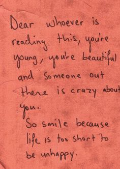 Dear whoever is reading this....
