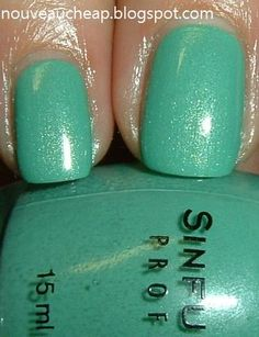 Mint Apple- Sinful Colors. I own this color and love it! ❤