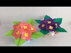 【折り紙】プリムラを折ってみた Origami Primula - YouTube