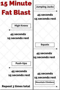 15 min Fat Blast Workout at Home http://runeatrepeat.com/2016/02/03/15-minute-fat-blast/