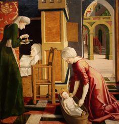 Michael PACHER Natividade da Virgem Maria c.1465