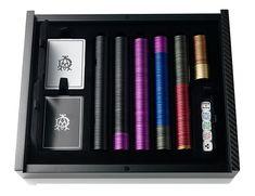 Dunhill Carbon Fiber and Aluminium Poker Set