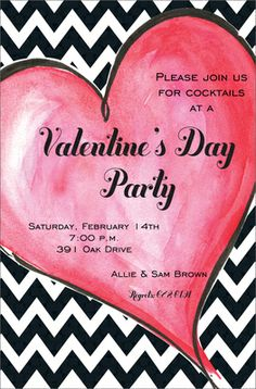 Zippy Heart Invitations for our Valentines Day Party
