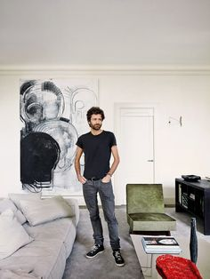Truthfully.. I'm pinning for that beautiful art work :). Joseph Dirand at Home