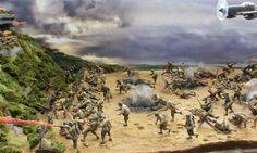 d-day landing diorama