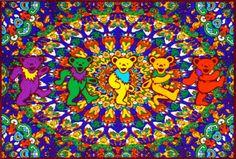 $29.99 - Grateful Dead - Psychedelic Bears Fleece Blanket
