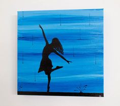 "Dancing in the Rain 12""x12"" Acrylic/Mixed Media on Canvas"