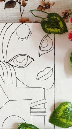 Small Canvas Art, Mini Canvas Art, Canvas Wall Art, Art Painting Gallery, Mandala Art Lesson, Doodle Art Designs, Whatsapp Wallpaper, Art Drawings Sketches Simple, Fabric Painting