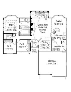 Floor plans on pinterest ranch floor plans floor plans for Atrium ranch floor plans