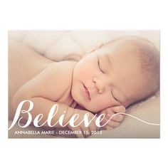 Believe | Holiday Birth Announcement