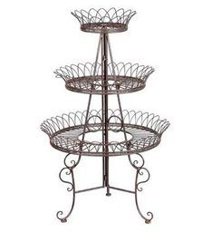 3 Layer Round Plant Stand