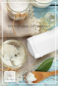 DIY Natural Deodorant – Don't Mess with Mama Did you know deodorants from the store are loaded with toxins? Make your own DIY natural deodorant – it's a solid like those in the store, so no goopy mess. Organic Beauty, Organic Skin Care, Natural Skin Care, Natural Beauty, Lip Scrub Homemade, Homemade Deodorant, Deodorant Recipes, Diy Natural Deodorant, Face Care Tips