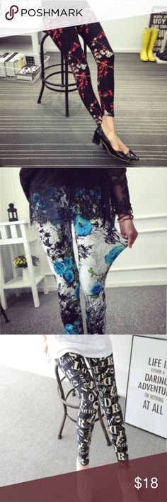 """Leggings Soft Comfortable Stretchy Pretty Patterns Soft as butter leggings. Slightly thinner than LuLaRoe but just as soft and stretchy, still with full coverage. Waist measurement is 21.25"""" - 35.43"""" Length is 36.22"""" Suggested weight is 99 - 154 lbs.  Fabric Content: Polyester and Milk Silk Hand Wash Cold Gentle, Hang or Lay Flat to Dry MyAdornments4u SpecialFinds Pants Leggings"""