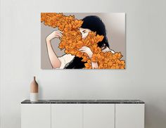 Discover «Orange flower», Limited Edition Aluminum Print by Paola Morpheus - From 75€ - Curioos