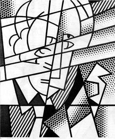 danois:    Roy Lichtenstein, Self-Portrait.  this is awesome.