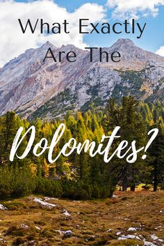 I can tell you that they are amazing mountain peaks in Italy! And they are stunning!! Click through to learn more about the Dolomites of Italy!! #travel #italy #italytravel #adventuretravel #europetravel #mountains #wanderyourway