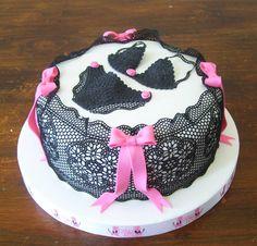 lingerie cake, I love lace too :)