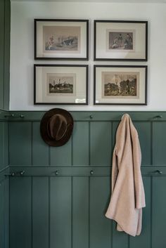 Peg rail board and batten Wainscoting Room Inspiration, Interior Inspiration, Image Deco, Reno, Wainscoting, Wabi Sabi, Mudroom, Sweet Home, New Homes